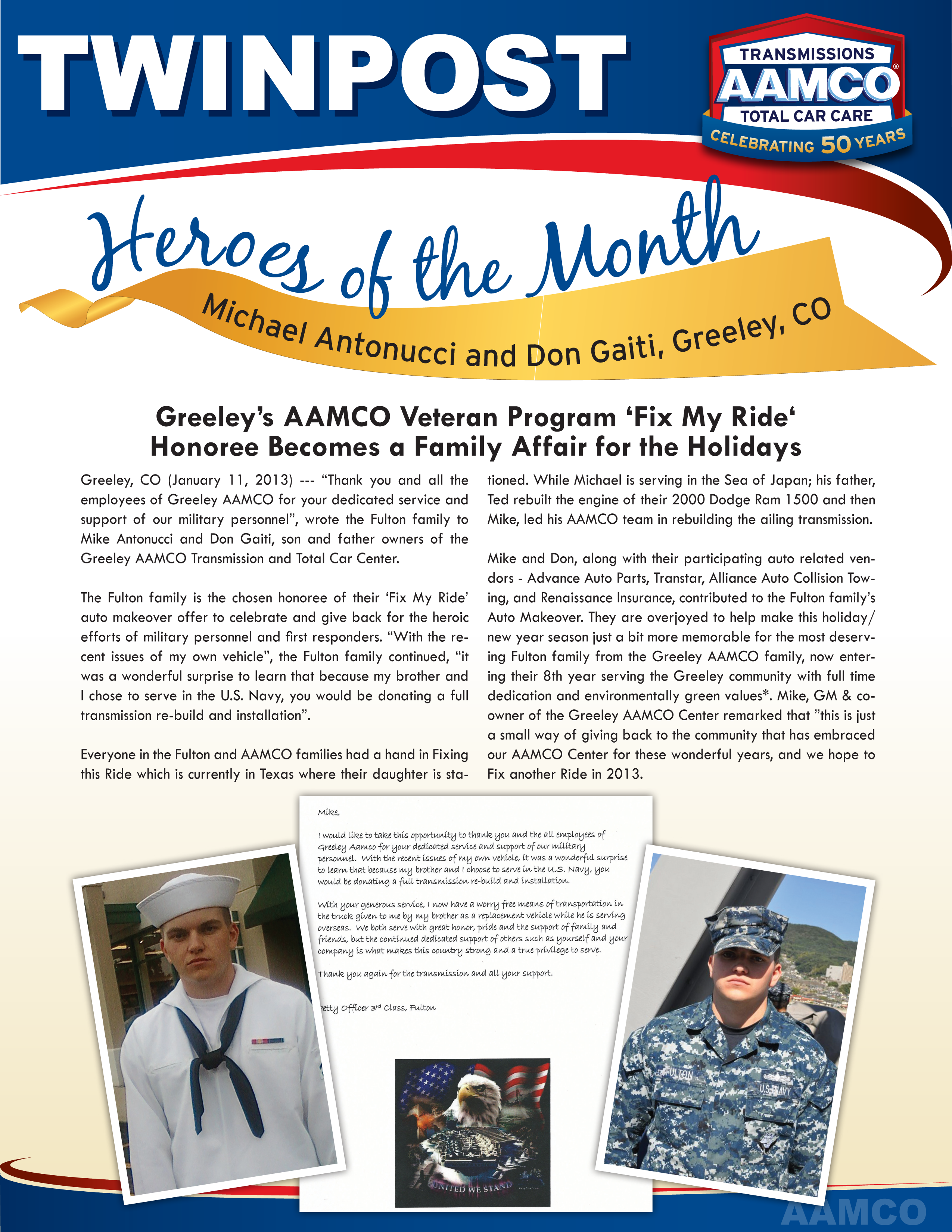 Aamco Greeley Heroes Of The Month Aamco Colorado