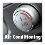 Button for car's air conditioning.
