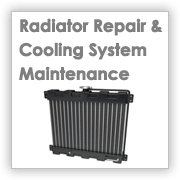 image - car radiator with words radiator repair and cooling system maintenance
