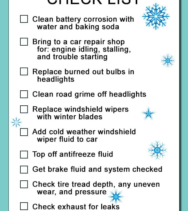 Winter Safety Checklist – INFOGRAPHIC