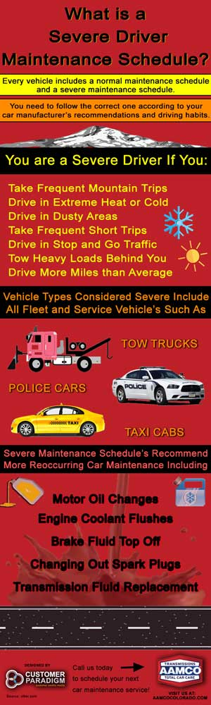 Severe Driving Car Maintenance Schedule - AAMCO Colorado