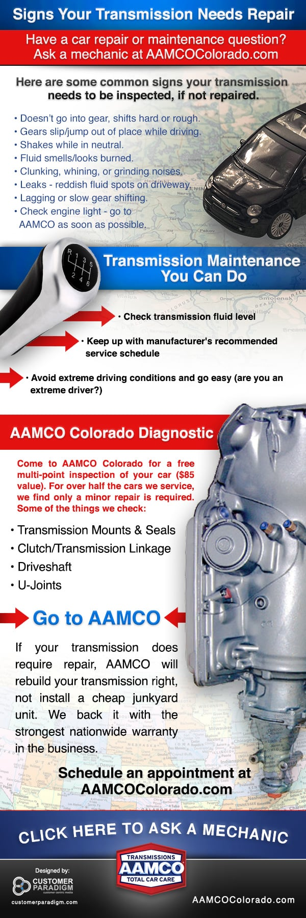 Infographic - Signs Your Transmission Needs Repair