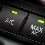 image - extreme closeup - air conditioning control buttons