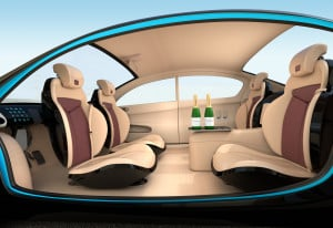 Image of self-driving car interior
