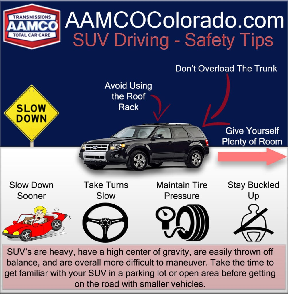 infographic SUV driving safety tips