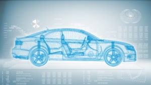 image of computer generated diagnostic image of car.