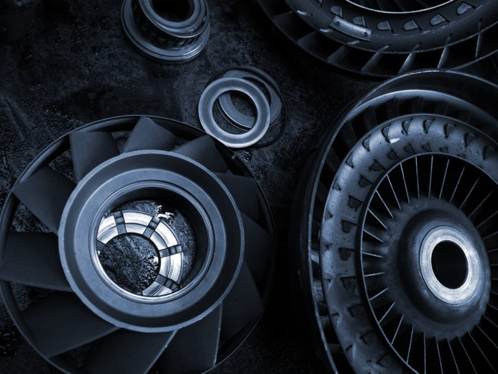 image of transmission planetary gears, grey steel.