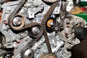 image of automobile engine serpentine belt.