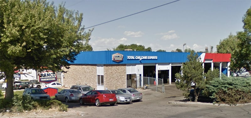 image of exterior AAMCO Aurora Transmission and Auto Repair shop on Colfax Avenue.