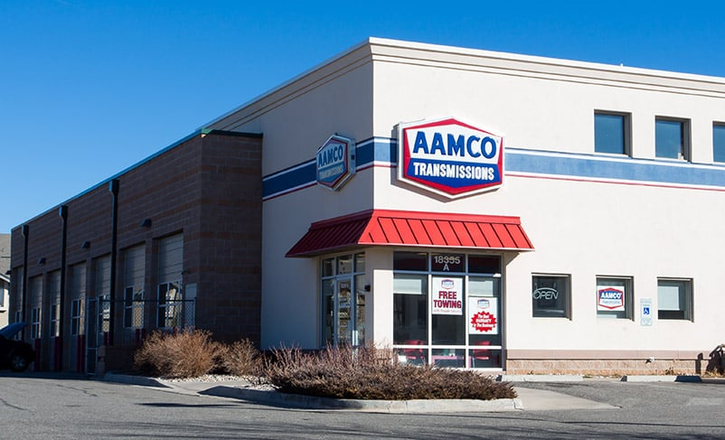 image of exterior - AAMCO Aurora, Colorado on East Girard Avenue at Hampden Avenue and Tower Road.