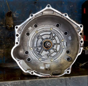 image of transmission housing, clean and ready for install on the latest transmission build.