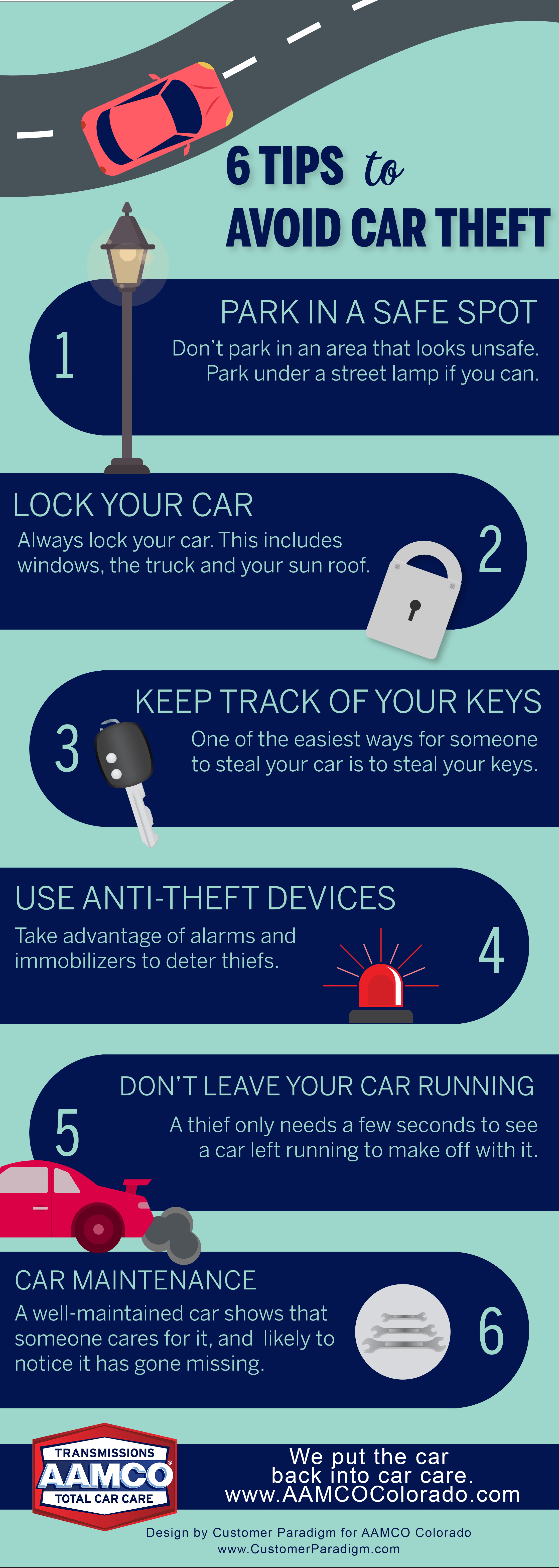 6 Tips to Avoid Being a Car Theft Victim - Infographic | AAMCO Colorado