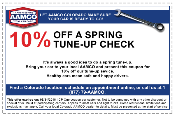 coupon for 10% off spring tune-up