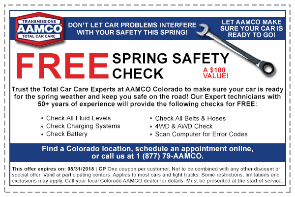 coupon for free spring safety check