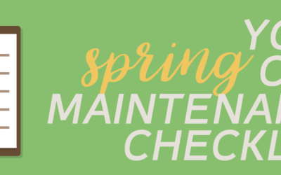 Your Spring Car Maintenance Checklist