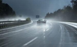 Image of wet roads in April in Colorado