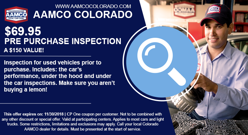 coupon for discount on pre purchase car inspection