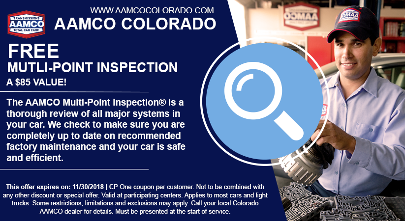 coupon for free multi point inspection