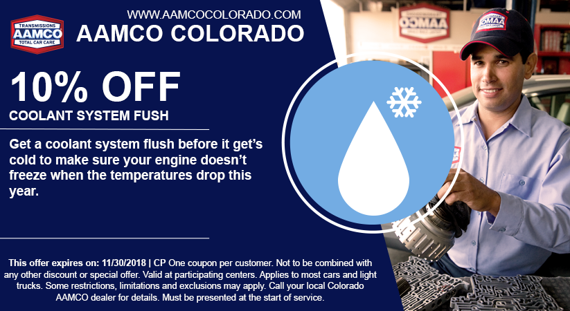 image - coupon for 10% off coolant system flush