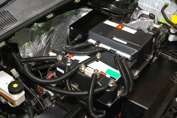 image of a battery in a hybrid vehicle