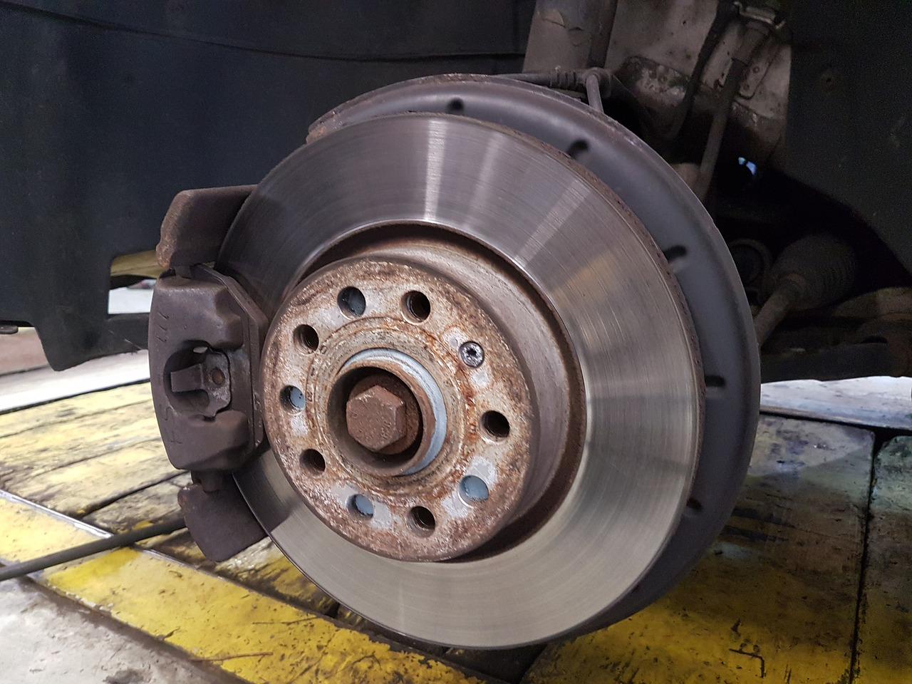 Car brakes. AAMCO Colorado Summer Car Care